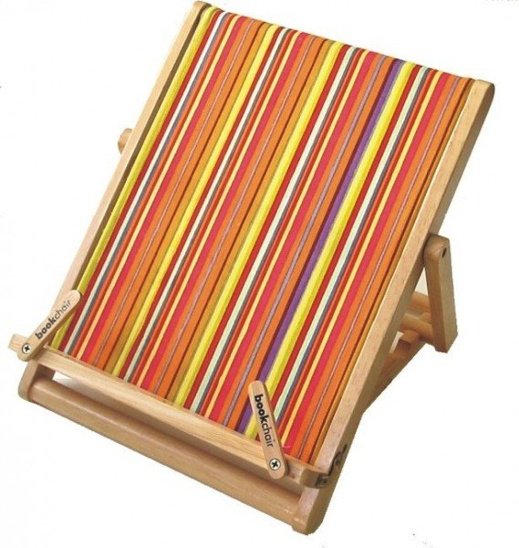 Bookchair Standard Streifen - Buchständer aus Holz
